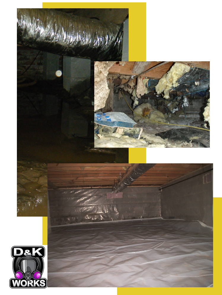 Crawl space cleanup dk works asbestos removal and mold remediation d k works crawl space clean up solutioingenieria Choice Image